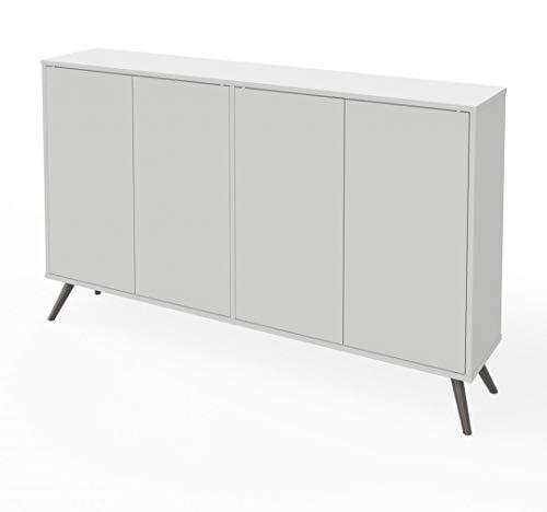 """Bestar 60"""" Storage Cabinet with Metal Legs - Krom"""