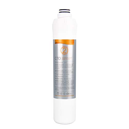 KFLOW Wasserfilterwechsel, 2. Stufe - Kokosnuss-Kohleblockfilter (Front CTO) Aufsatzwasserfilter KFL-ROPOT-175 und KFL-DT-180