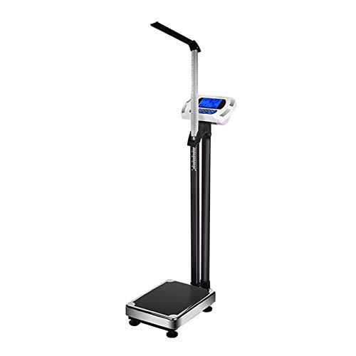 GMF Escala De Altura Y Peso 60~210cm, Bascula Medica con Tallimetro, Básculas Médicas Digitales Ligeras Portátiles, Mano Apretón Hoja De Electrodos