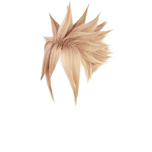 Final Fantasy VII Cloud Strife Cosplay Wig Boy Golden Hairpiece Hair Accessory with Wig Cap