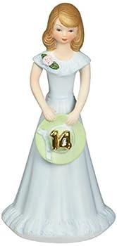 "Enesco Growing Up Girls ""Brunette Age 14"" Porcelain Figurine 6.5"""