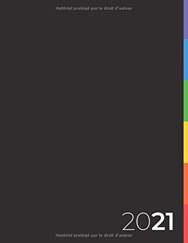 Agenda 2021: Semainier │ 21,59 x 27,94 cm │ 2 Pages Par Semaine │ LGBT