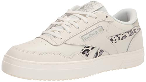 Reebok womens Club Memt Sneaker, Animal Print/Chalk/Flint Grey Metallic/Black, 8 US