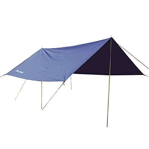 SONG 3x3m Markise wasserdichte Plane Zelt Schatten Garten Baldachin Sonnenschirm Outdoor Camping Hängematte Rain Fly Beach Sonnenunterkunft (Color : Navy)