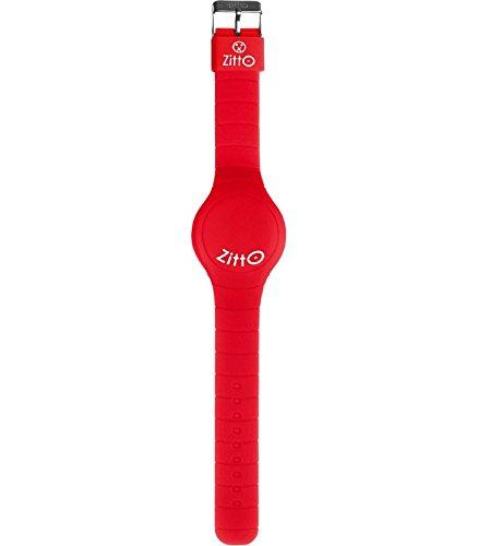 Orologio ZITTO a led con cinturino in silicone Flamin Red Rosso fuoco Piccolo