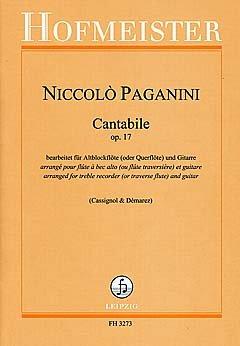 CANTABILE OP 17 - geregeld voor oude blokfluit - (dwarsfluit) - gitaar [noten / Sheetmusic] Component: PAGANINI NICCOLO