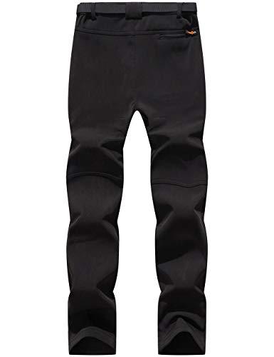 BenBoy Pantaloni Trekking Donna Invernali Impermeabile Pantaloni da Sci Neve Arrampicata Escursionismo Caldo Pantaloni Softshell Outdoor,KZ1672W-Black-XS