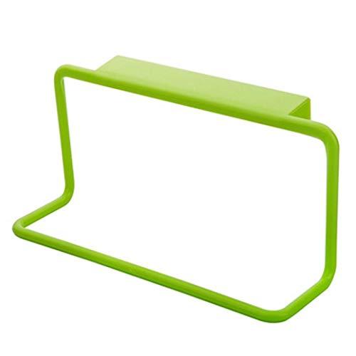 Toallero de plástico autoadhesivo para colgar toallas de baño, cocina, armario (verde)