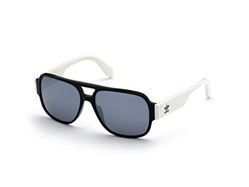 adidas Herren OR0006 Sonnenbrille, Shiny Black/Smoke Mirror, 57