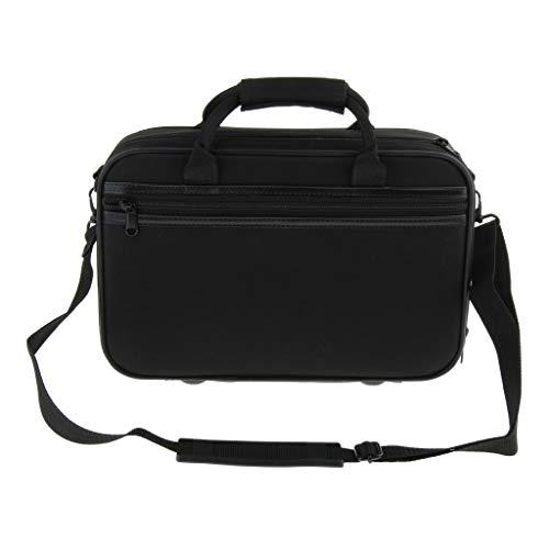 H HILABEE Wasserdicht Klarinette Tasche Koffer Rucksack Gig Bag für Bb Klarinette mit verstellbarem Schultergurt, Ca. 35,5 x 23,7 x 11,4 cm