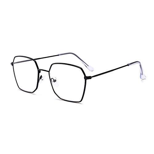 SNXIHES Sonnenbrillen Quadrat Brillengestell Frauen Männer Metall Brillen Optische Rahmen Brillen Klare Linse Gold Silber Brille 1