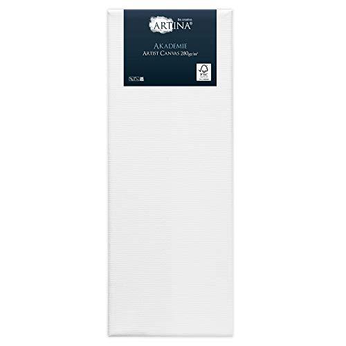 Artina Akademie - 30x80cm - Lienzo Blanco para Pintar - con Bastidor 280g/m²