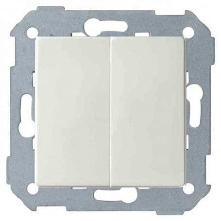 Simon 8200398-090 Doble Interruptor 10AX Emb rápido + teclas