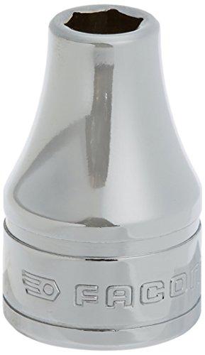 Facom S.8H Vaso 1/2', 6 Caras métricos, 8mm, Cromado Brillante