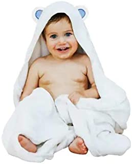 Ayayu Extra Soft Bamboo Baby Hooded Towel & Washcloth | Antibacterial & Hypoallergenic | Extra Soft Keeps Baby Snug & Warm | Sized for Infant & Toddler (30