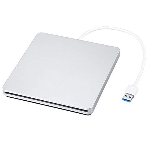 Externer DVD/CD Rewriter USB-Einschub Externer DVD/CD-Brenner Mac Pro/MacBook Pro/ASUS U306UA / ASUS/Dell Latitude mit USB-C-Anschluss (Silber)