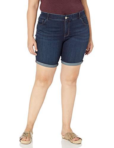 LEE Women's Plus-Size Midrise Total Freedom Cocoa Rolled Bermuda Short, Persian, 18W Medium