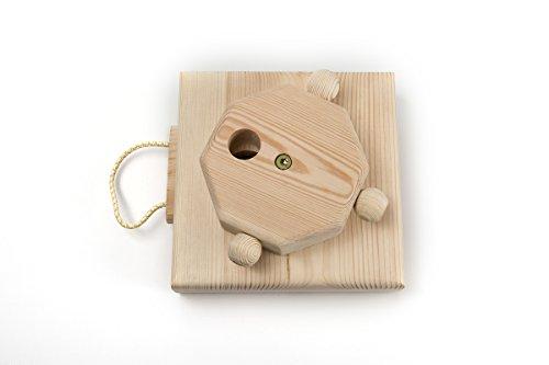 SAUERLAND Intelligenzspiel Dreh-Zieh-Spiel, Hundespielzeug aus Holz, Motivationsspiel mit Belohnung, Beschäftigungsspielzeug
