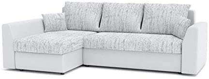 Afritz Sofá de Esquina con función de sueño, sofá de Esquina óptimo, sofá de Esquina con Marco de Cama,D