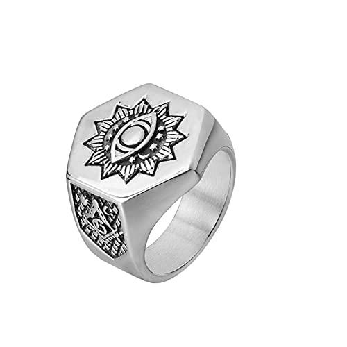 Anillo De Ojo Para Hombre Anillos Masónicos De Acero Inoxidable 316L Heavy Metal Freemason Biker Jewelry8