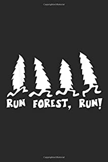 Run Forest, Run!: Run Forest Run Funny Hiking I Love Nature Wanderlust Journal/Notebook Blank Lined Ruled 6x9 100 Pages