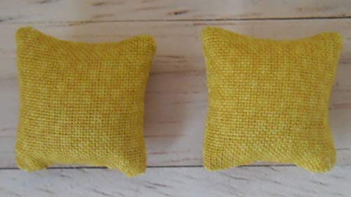 1//12th Scale Dolls House Printed Fabric Cushions in Pale Blue