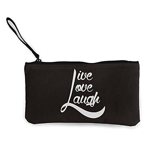 Leinwand Geldbörse Live Love Laugh Baseball Canvas Coin Purse Wallet Cosmetic Bag