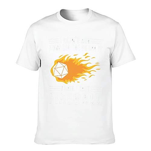 Camiseta de algodón para hombre, diseño de bola de fuego fundida – D20-Dice cuello redondo