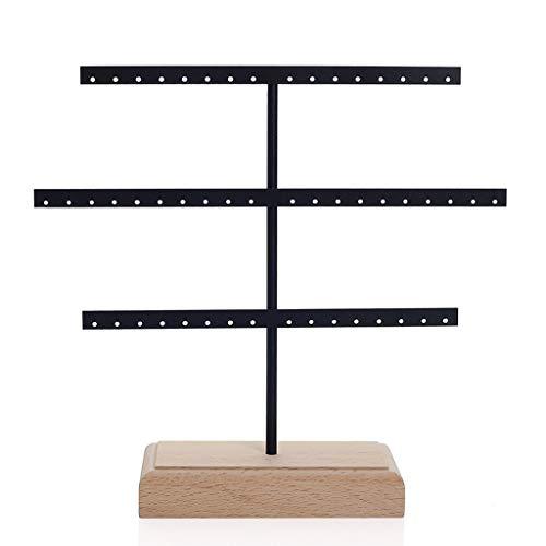 Yushu Organizador de pendientes para joyas, soporte de 3 niveles para pendientes, organizador de árboles, soporte de exhibición para collares, pendientes para el hogar, colgante