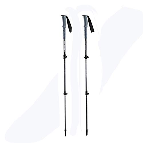 Hiking/Walking Poles, Cannes De Marche Nordique, Walking Stock 110 Cm, Alliaged Aluminium, Télescopique, Ultraléger, Pliable, Réglable 62-135 CM pour Trekking Camp,Homme Femme,Une Paire,Gray