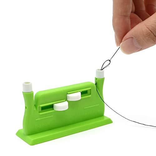 Yibang Automatischer Nadeleinfädler, Automatische Nadel Einfädler Schreibtisch, Einfädelhilfe für Nähmaschine und Hand - Grün