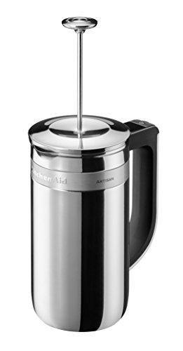 KitchenAid 5KCM0512ESS - Cafetera (Independiente, Prensa eléctrica francesa, 0,75 L, De café molido, Acero inoxidable)