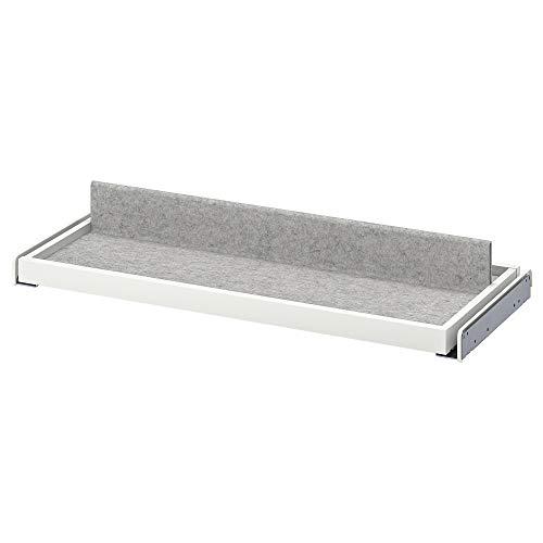 KOMPLEMENT Bandeja extraíble con zapatero 28x22x2.5' blanco/gris claro