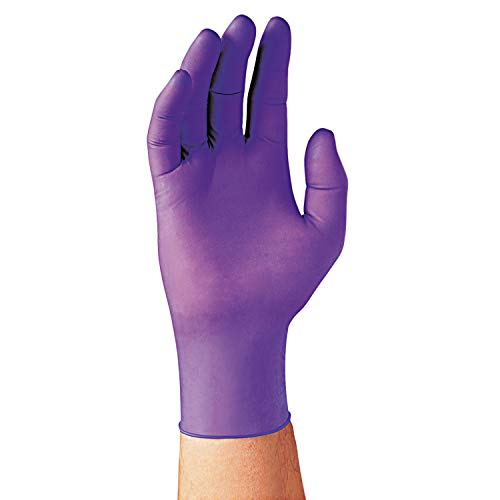 Kimberly-Clark Professional 55083 PURPLE NITRILE Exam Gloves, 242 mm Length, Large, Purple (Box of 100)