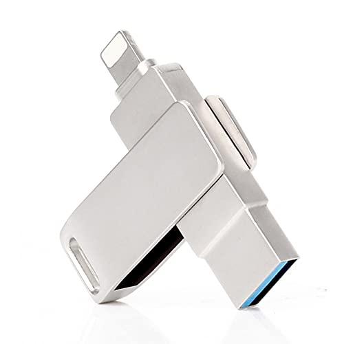 Unidad flash USB para iPhone, Pulgar con Touch ID,Jump Drive Memory Stick,Photo Stick Almacenamiento externo para iPhone/iPad/Android/PC (32GB)