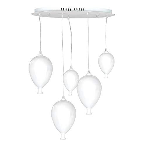 ONLI Hängelampe mit Luftballons aus Glas Modern Bianco