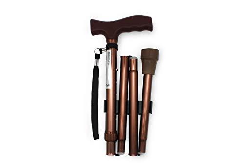 PEPE-BASTÓN, Bastones plegables para mayores, Bastones para ancianos, Bastón plegable mujer/hombre (Color bronce)
