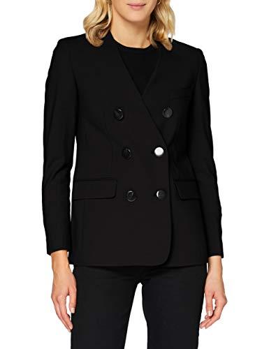 Sisley Jacket Giacca, Nero 100, 46 Donna