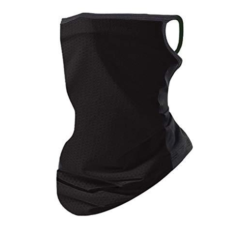 TOPEREUR Unisex Gesichtsmaske Bandana Kopftuch Halstuch Winddichte Maske für Damen und Herren, Atmungsaktiv Schnelltrocknend Schutzmasken Ski Joggen Wandern Fahrrad Motorrad Schlauchschal