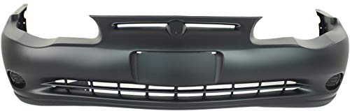 Front Bumper Cover Compatible with 2000-2005 Chevrolet Monte Carlo Primed LS/SS Models