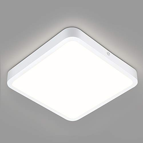 LED Deckenleuchte Flach 18W, 1800LM LED Deckenlampe 18x18CM, Oraymin LED Deckenleuchte Flach Panel für Wohnzimmer Schlafzimmer Küche Balkon Büro Flur, Neutralweiß 4000K