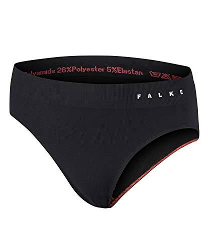 FALKE Damen Brief, Sportunterhose aus Funktionsfaser, Schnelltrocknender Slip, Atmungsaktiv, 1 er Pack, Schwarz, Größe: M