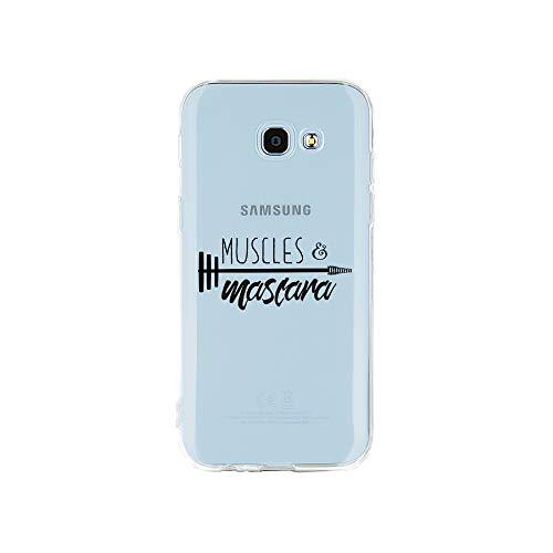 licaso Samsung A5 Handyhülle Smartphone Samsung Case aus TPU mit Muscles & Mascara Print Motiv Slim...