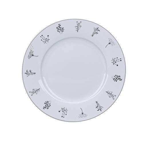 Krasilnikoff - Teller, Kuchenteller, Dessertteller - Meadows, Wiesenblumen - Porzellan - Ø20 cm