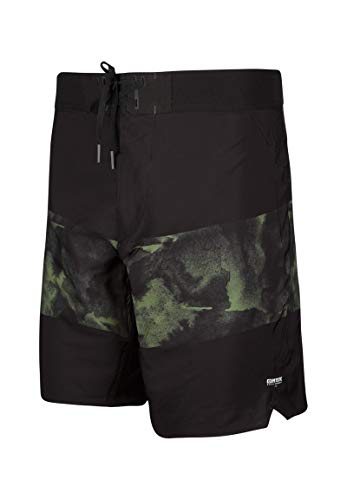 Mystic Baron Boardshort Black/Green 30 S