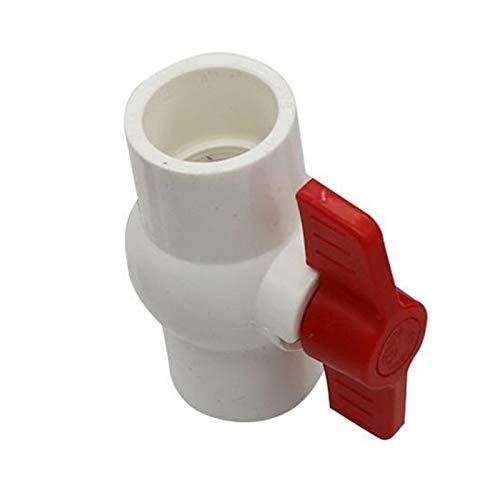 COEUGE Válvula De Aislador, Válvula De Bola De PVC De Plomería De Deslizamiento, Interruptor De Tubería De Conector De Reparación De Plástico (Size : White ID 32mm)