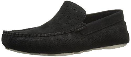 UGG Men's Henrick Stripe Perf Boat Shoe, Black, 9.5 M US