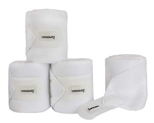 Esperado Fleece Bandage weiß - 4er Set, Größe:Warmblut