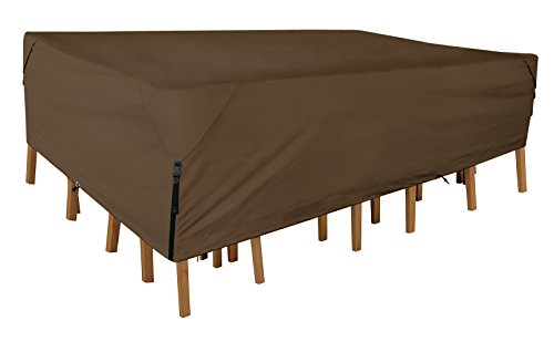 Leader Accessories 600D PVC Tough Canvas 100% Waterproof Rectangular/Oval Patio Table & Chair Set...