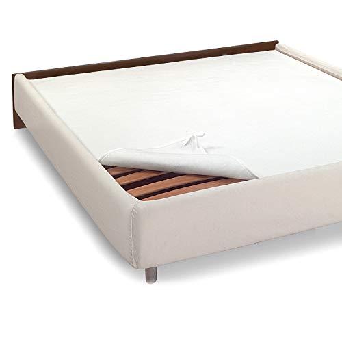 NuvolaNera Coprirete in Feltro di Alta qualità in 3 misure per coprire le doghe del tuo letto – Prodotto Italiano – Lacci per fissare gli angoli – Matrimoniale 160x190 cm